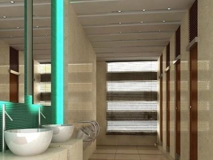 简约现代公共厕所装修效果图片图片