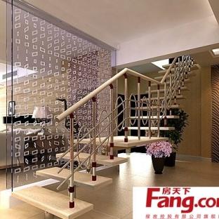 中式复式楼楼梯装修效果图