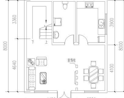 农村平房一层设计图纸-2018一层五间平房设计图 房天下装修效果图图片