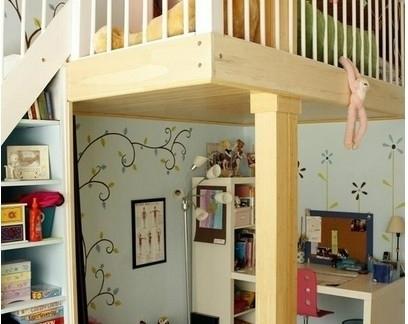 清新儿童房30小平米装修效果图