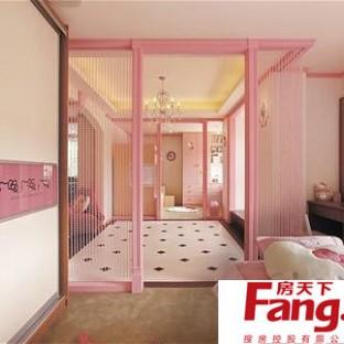 小户型粉色可爱女生房装修图片