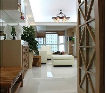 新中式餐厅80平米两室一厅装修效果图图片