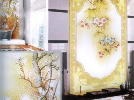 艺术玻璃隔断效果图展示