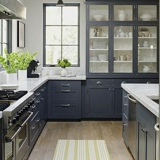 2012复古美式厨房装修效果图