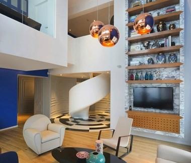 2013最新的小户型复式楼装修效果图图片
