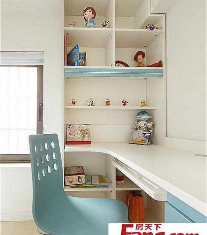 书房欧式儿童房书柜装修图片图片
