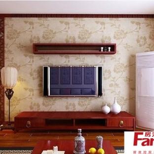 客厅手绘画影视墙装修图