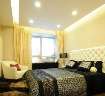 精美壁纸电视背景墙90平二室二厅装修图