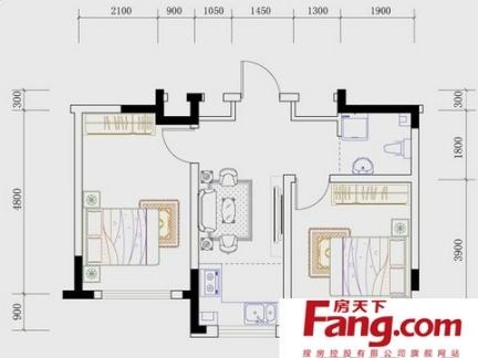 高层住宅109平户型图-109平三房装修 房天下装修效果图