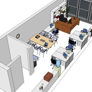30多平小型办公室布局设计图片
