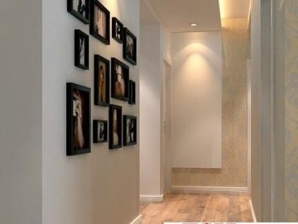 室内客厅过道背景墙装修效果图片-2017客厅过道墙装修效果图 房天下图片