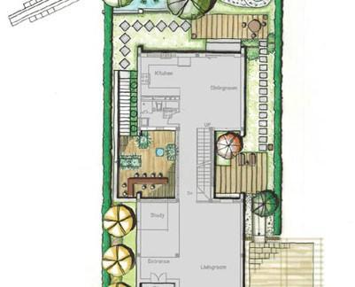2018长方形花园设计图片 房天下装修效果图