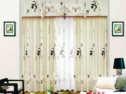 今年最流行的中国风窗帘布艺图片大全-2017中国风装修风格 房天下装