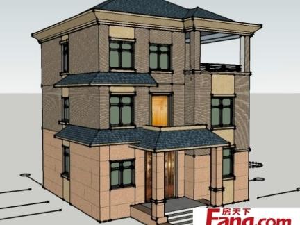 农村三层半楼房设计图