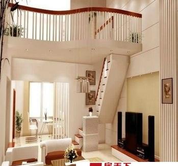 客厅阁楼楼梯装修效果图片大全