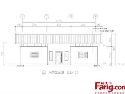 2013最新一层平房设计