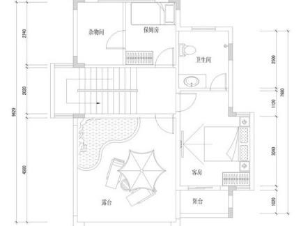 2013农村三层小别墅底层平面设计图