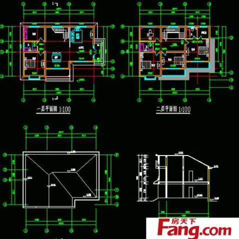 三层农村别墅设计图