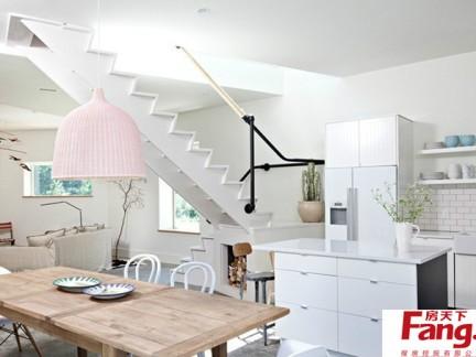 2018小户型复式楼梯装修效果图-房天下装修效果图图片