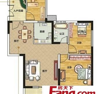 五房一厅楼房平面图