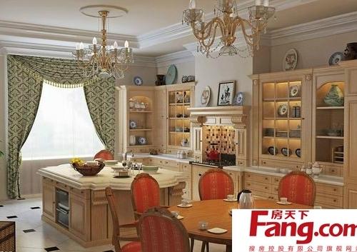 欧式厨房窗帘装修效果图大全赏析图片