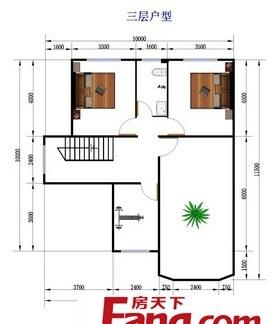 农村2层楼房室内平面设计户型图-2层楼房设计户型图 房天下装修效果图
