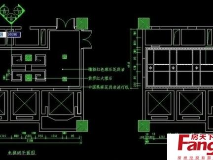 2017电梯平面详解图纸 房天下装修效果图图片