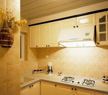 厨房墙砖贴图-2018厨房绿色墙砖效果图 房天下装修效果图