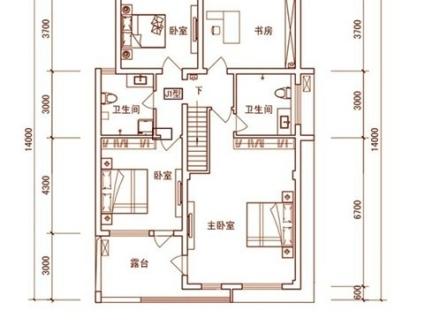 2018小别墅二层平面图 房天下装修效果图