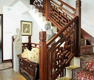 复古中式风格楼梯装修图片