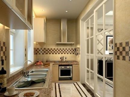 现代简约风格厨房墙砖效果图-2017现代厨房墙砖贴图 房天下装修效果