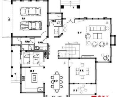 农村一层别墅内部设计图