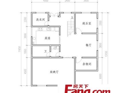 农村2层楼房平面设计图-2层楼房设计户型图 房天下装修效果图图片
