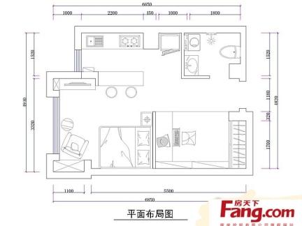 2019单身公寓平面图集锦-房天下装修效果图