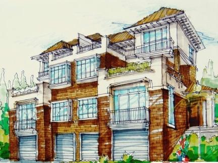 农村双拼三层别墅设计图