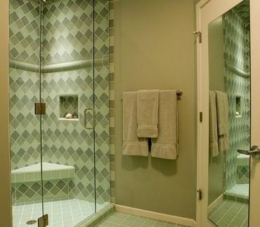 马赛克瓷砖现代卫生间装修效果图-2017卫生间瓷砖铺贴效果图 房天下