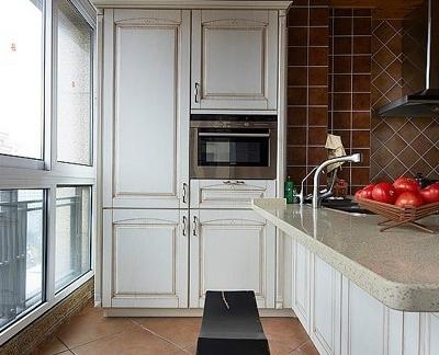 美式家装小厨房图片欣赏-搜房网装修效果图图片