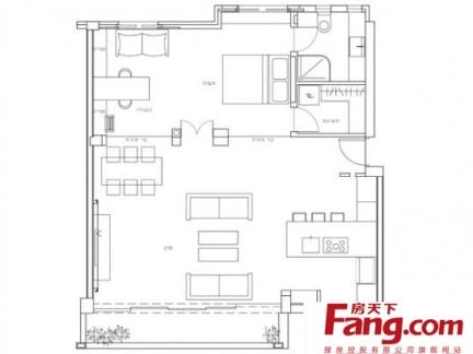 最新单身公寓平面图