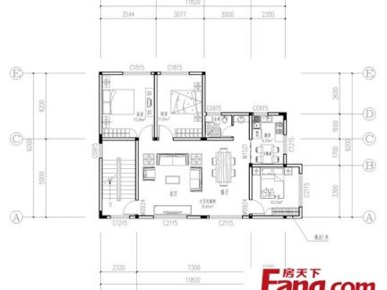 120平农村大户型平房平面设计图纸-2018复式设计平面图大户型平面图图片