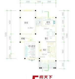 农村平房客厅设计效果图