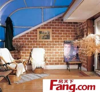 美式玻璃客厅阳光房实拍装修效果图片