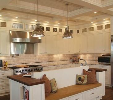 敞开式厨房吊顶效果图图片