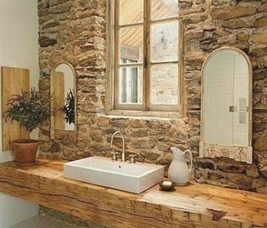 石制复古浴室装修效果图