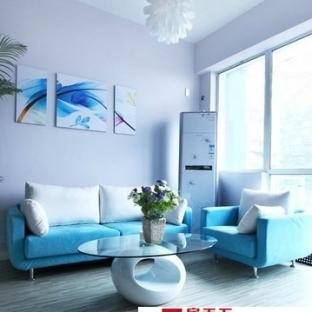 地中海风格小客厅20平米小户型装修效果图
