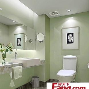 简约现代公共厕所装修效果图图片