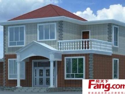 2018农村房屋二层半外观图 房天下装修效果图