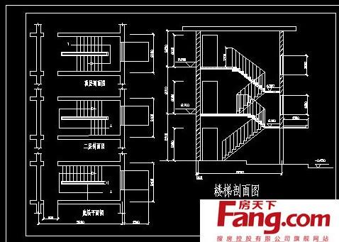 旋转楼梯设计分解图片