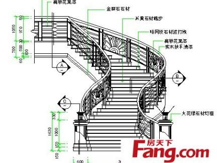 旋转楼梯设计平面图片