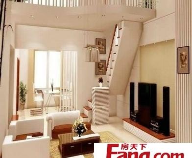 客厅简约阁楼楼梯图片