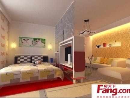 现代简约卧室地板砖效果图图片